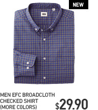 MEN EFC BROADCLOTH CHECKED SHIRT
