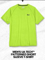 MEN'S UA TECH(TM) PATTEREND SHORT SLEEVE T-SHIRT