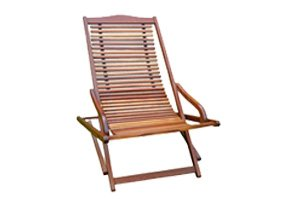 Wooden Patio Chaise Lounge