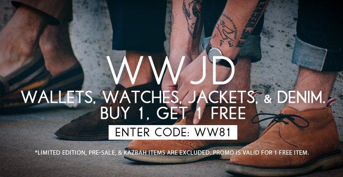Wallets, Watches, Jackets, & Denim
