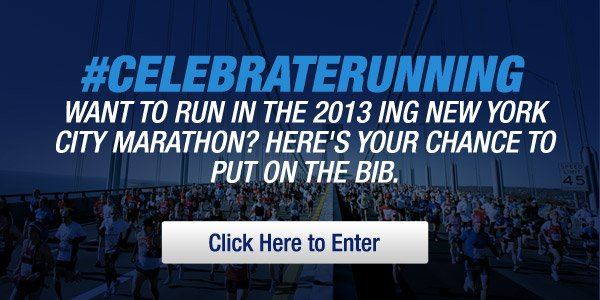 Enter for a chance to run in the 2013 ING New York City Marathon - Hero