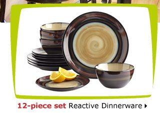 12-piece set Reactive Dinnerware