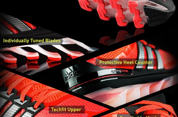 Individually Tuned Blades. Protective Heel Counter. Techfit Upper