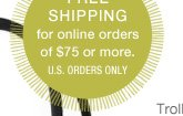 Free shipping for online orders of $75 or more. U.S. orders only.