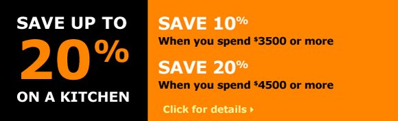 SAVE UP TO 20% ON A KITCHEN