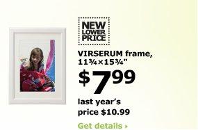 VIRSERUM frame, 11 3/4 x 15 3/4 $7.99
