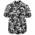 Dragonfly Roadhouse Grim Reaper Button up Short Sleeve Shirt