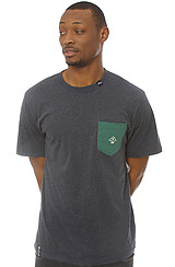 The Core Collection Pocket Tee in Navy Heather