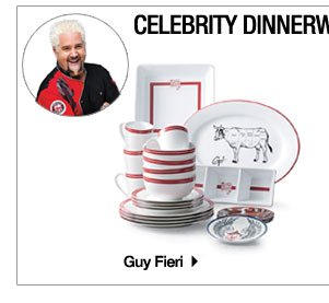 Celbrity Dinnerware & Cookware. Guy Fieri.