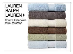 Lauren Ralph Lauren Shown: Greenwich towel collection Shop Lauren Ralph Lauren