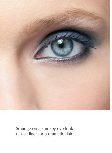 Smudge on a smoky eye look or use liner for a dramatic flair.