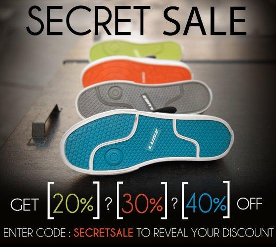 Secret Sale- Get 20%? 30%? or 40% Off?