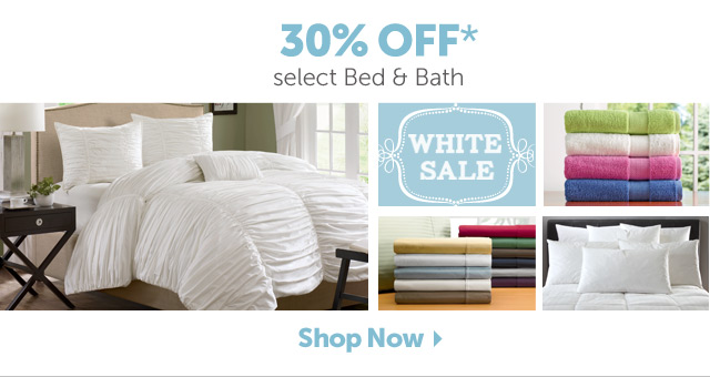 30% OFF* select Bed & Bath - Shop Now