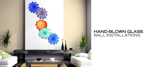 HAND-BLOWN GLASS: WALL INSTALLATIONS, Event Ends August 4, 9:00 AM PT >