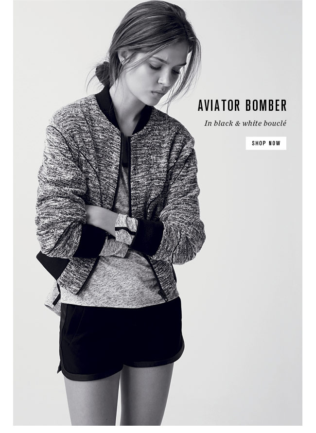 Aviator Bomber Jacket | Shop Now