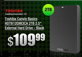Toshiba Canvio Basics HDTB120XK3CA 2 TB 2.5 inch External Hard Drive - Black