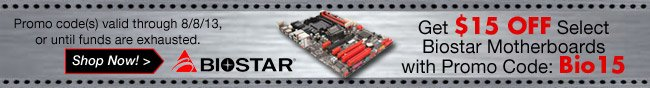 Biostar - Get $15 Off Select Biostar Motherboards with Promo Code Bio15