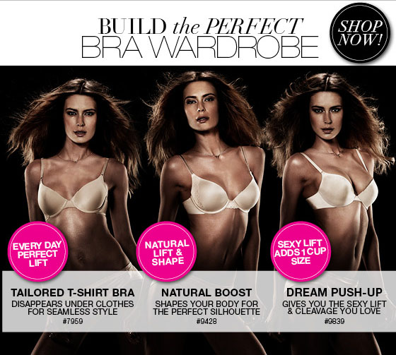 Build the Perfect Bra Wardrobe: Tailored T-Shirt Bra for Every Day Perfect Lift, Natural Boost for Natural Lift and Shape, Dream Push-UP for an added Cup Size