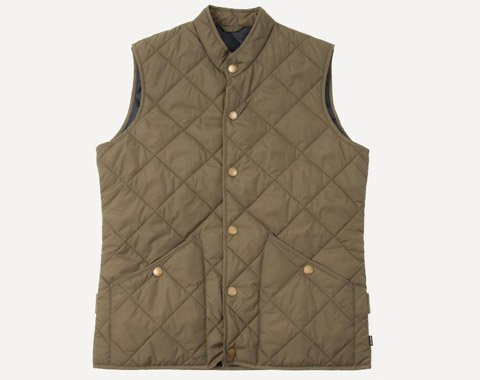 Dartmouth Quilted Vest in Ochre