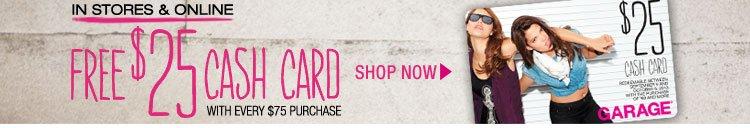 FREE $25 CASH CARD