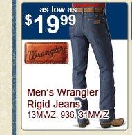 All Mens Wrangler Rigid Jeans on Sale
