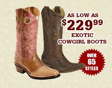 All Womens Exotic Boots on Sale