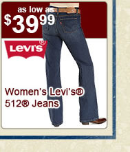 All Womens Levis 512 Jeans on Sale