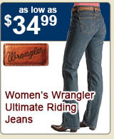 All Womens Wrangler Ultimate Riding Jeans on Sale