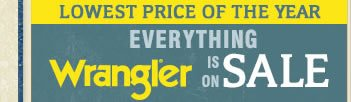 Everything Wrangler is on Sale