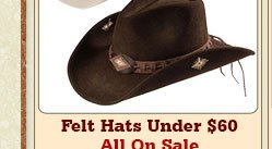 All Womens Felt Hats Under 60 on Sale