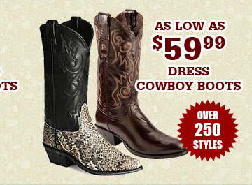 All Mens Dress Cowboy Boots on Sale