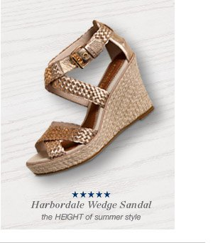 Harbordale Wedge Sandal | the HEIGHT of summer style