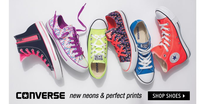 CONVERSE new neons &  perfect prints
