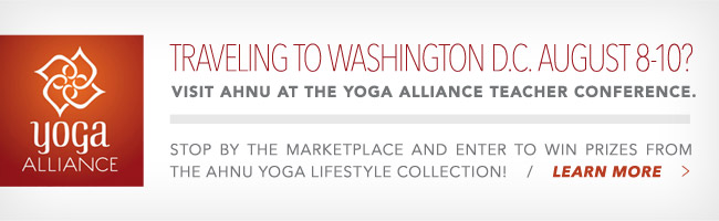 Traveling to Washington D.C. August 8-10? Visit Ahnu at the Yoga Alliance Teacher Conference.