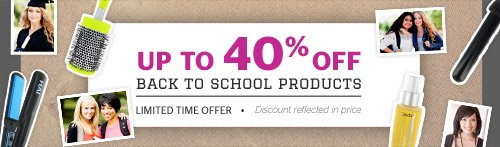 Up to 40% off the Back to School Section