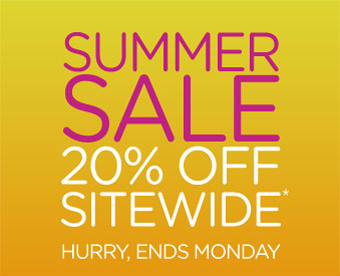 Summer Sale 20% Off Sitewide* - Hurry, Ends Monday