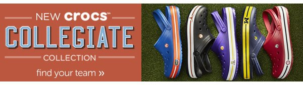 New Crocs Collegiate Collection - find your team