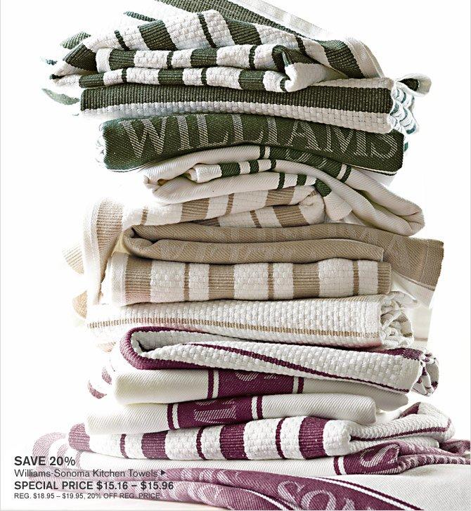 Williams-Sonoma: 20% Off Williams-Sonoma Kitchen Towels