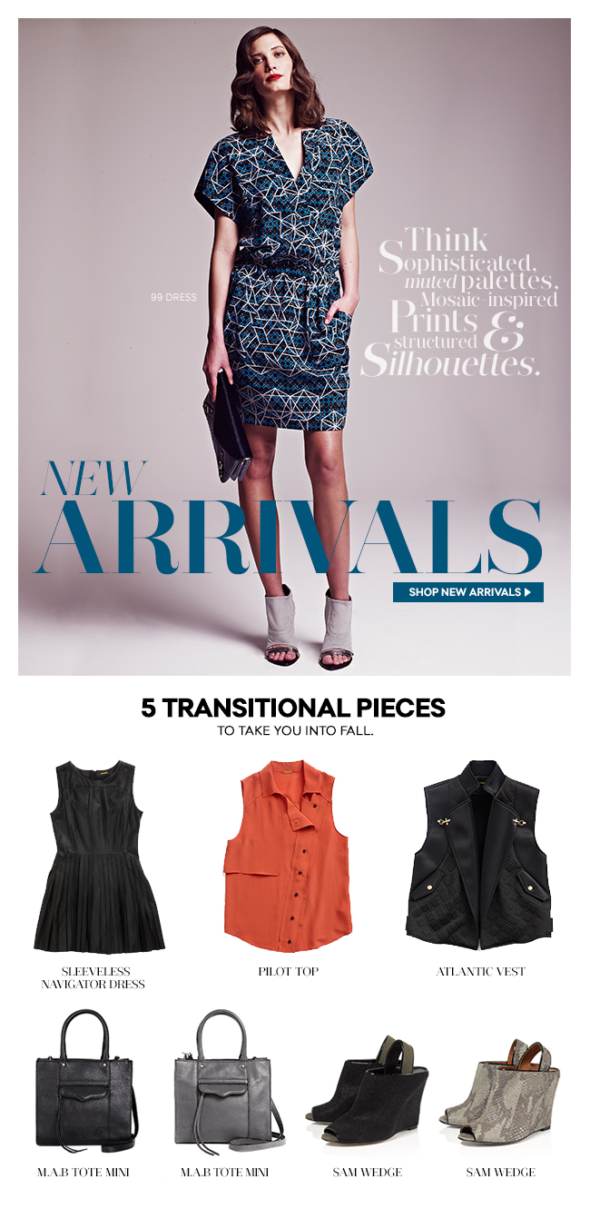New Arrivals: 5 Transitional Pieces