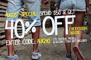 August Special: 40% Off