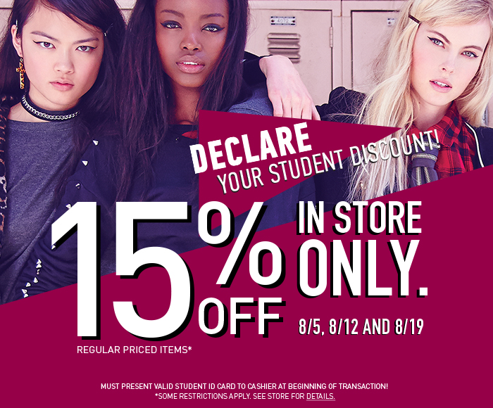15% OFF - In Store Only! - Shop Now