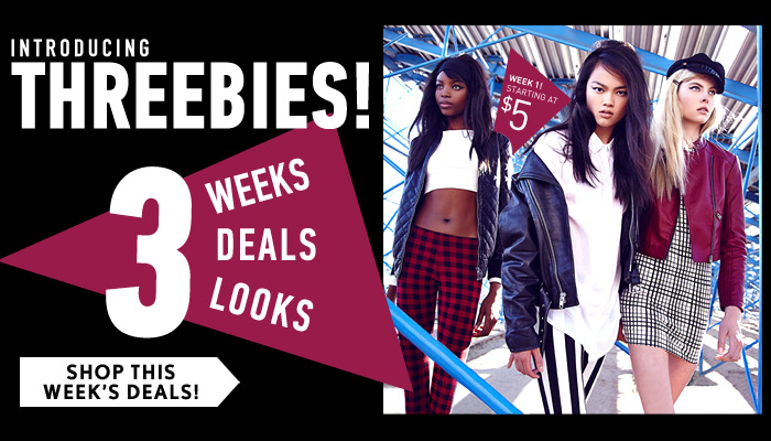 Introducing Threebies! - Shop Now