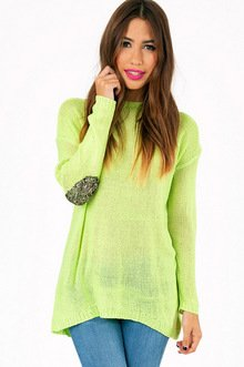 GLAM PATCHED SWEATER 54