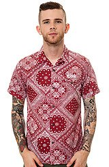Harris SS Buttondown Shirt in Red