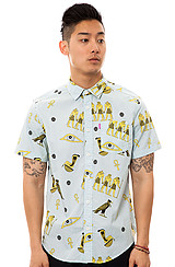 Anubis SS Buttondown Shirt in Powder Blue