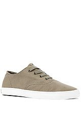 The Wrap Sneaker in Olive Canvas