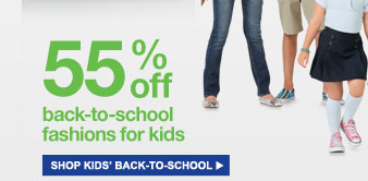 55% off back-to-school fashions for kids | shop kids' back-to-school