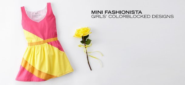 MINI FASHIONISTA: GIRLS' COLORBLOCKED DESIGNS, Event Ends August 6, 9:00 AM PT >