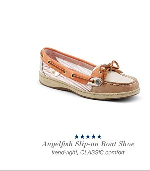 Angelfish Slip-on Boat Shoe | trend-right, CLASSIC comfort