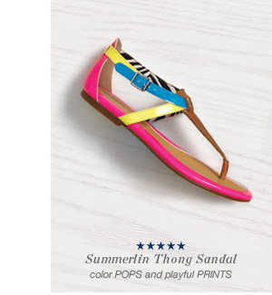 Summerlin Thong Sandal | Color POPS and playful PRINTS